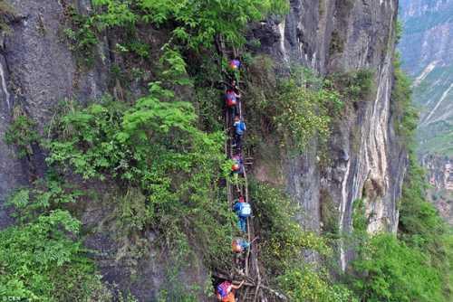 Mαθητές σκαρφαλώνουν σε βουνό 800μ. προς το σχολείο!