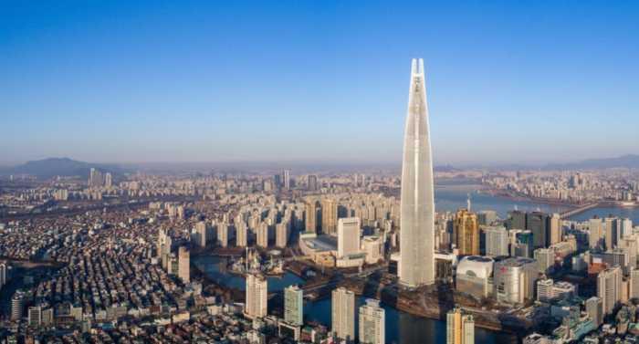 """Εντυπωσιακός ουρανοξύστης """"αποκαλύπτεται"""" στην Σεούλ!"""