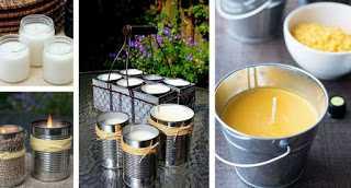 Φτιάξτε εύκολα αντικουνουπικά κεριά με άρωμα σιτρονέλας