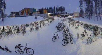 Η πόλη που τα παιδιά πάνε σχολείο με ποδήλατο ακόμα και με -17°C